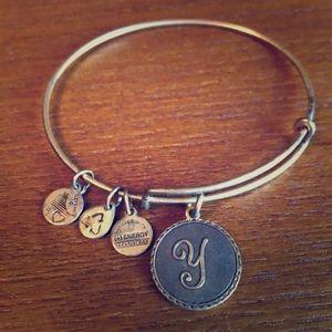 "Alex and Ani Letter ""Y"" Bracelet"